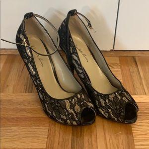 Charlotte Russe Lace Peep toe pump, 7
